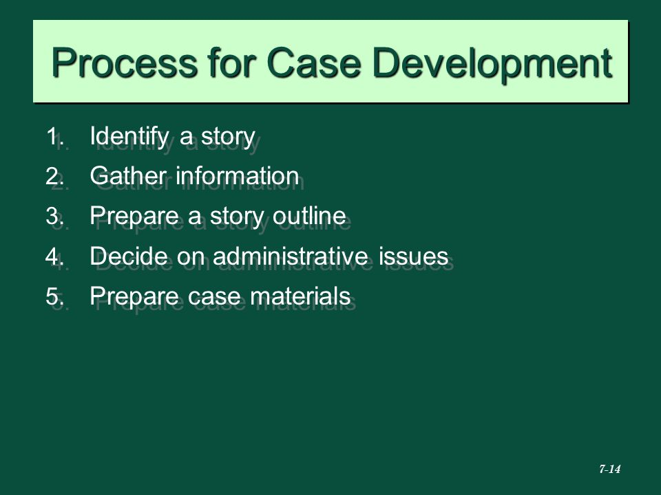 Process for Case Development