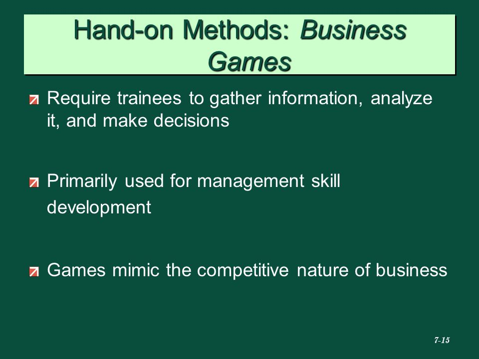 Hand-on Methods: Business Games