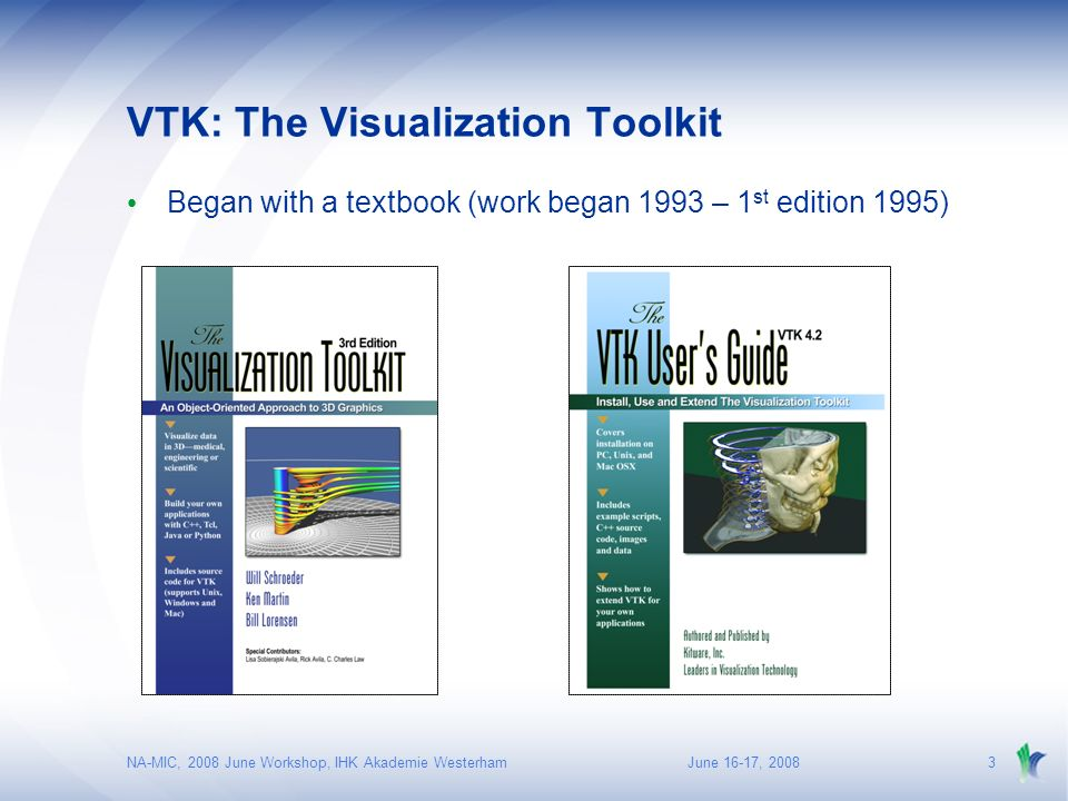 NA-MIC, 2008 June Workshop, IHK Akademie Westerham VTK - ppt download