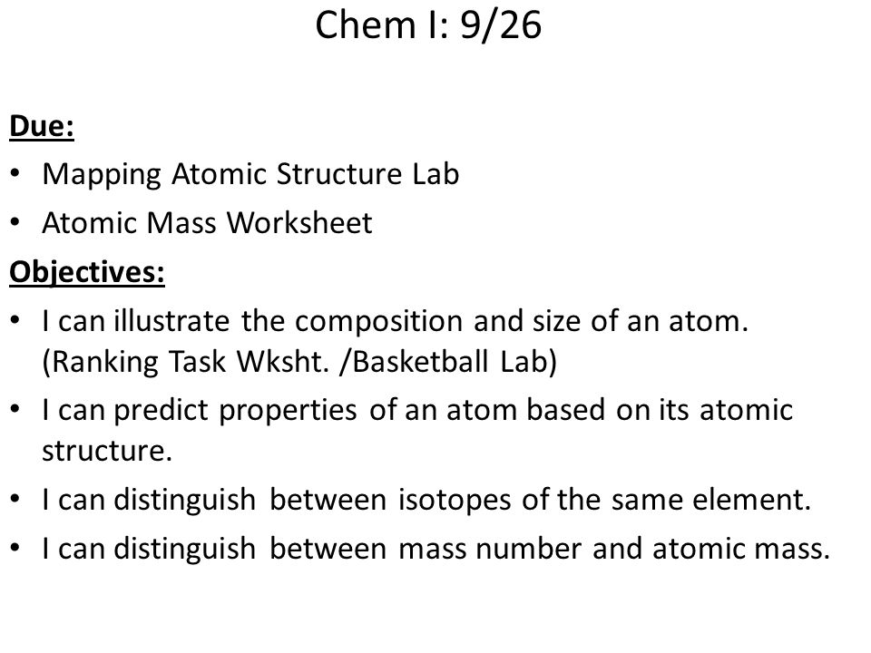 Chemi block due atomic structure ranking task worksheet ppt chem i 926 due mapping atomic structure lab atomic mass worksheet ccuart Gallery