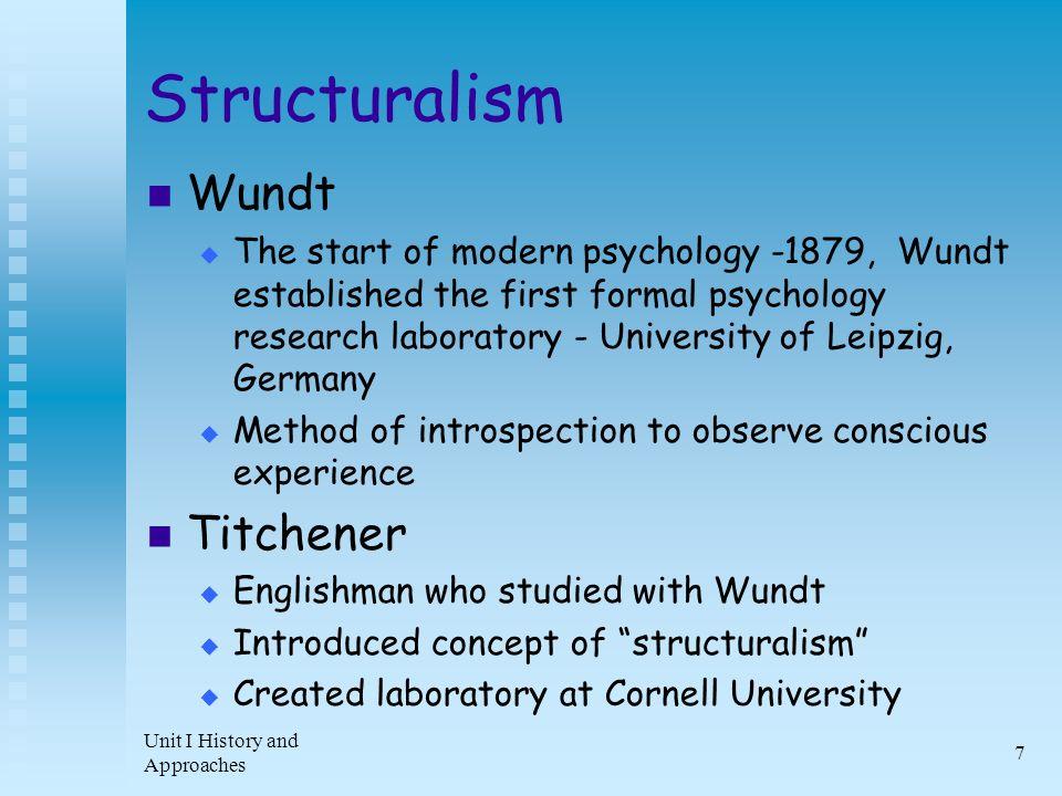 wundt structuralism