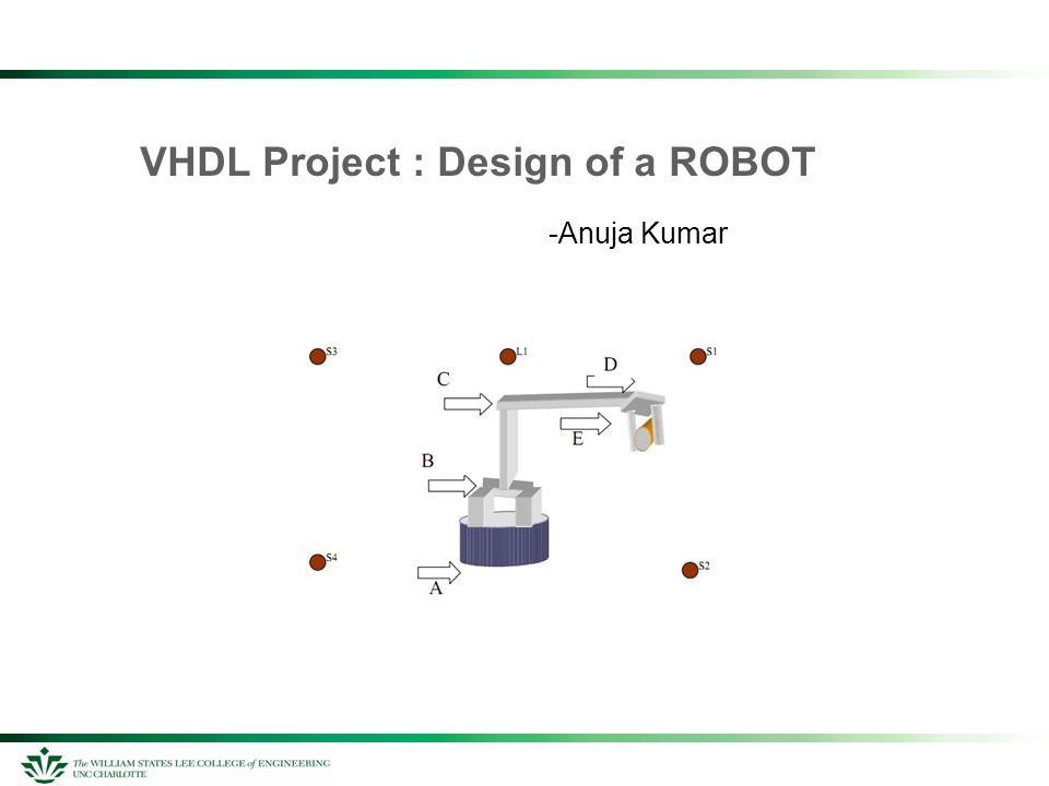 VHDL Project : Design of a ROBOT