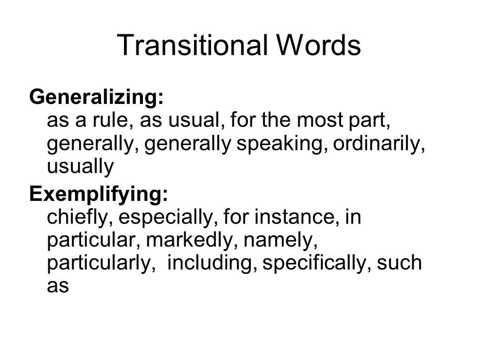 adding transition words
