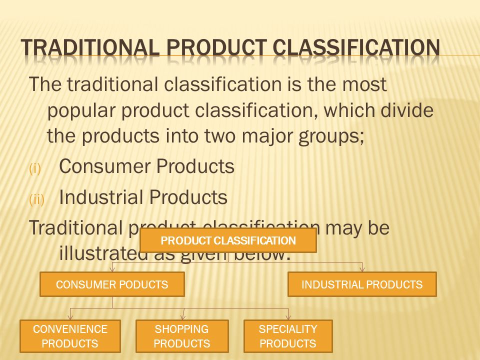 Product: Concept, importance & Classification - ppt video online