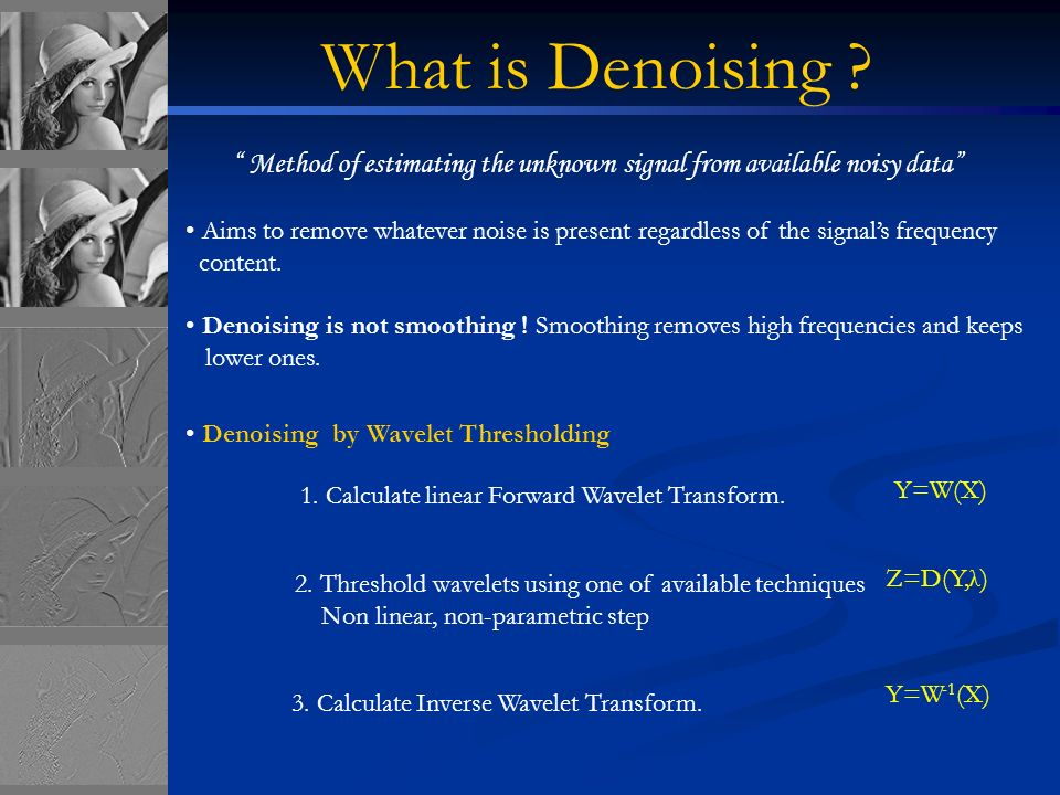 Image Denoising Using Wavelets - ppt video online download