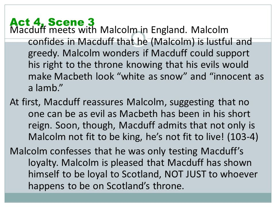 macbeth act 4 scene 3 summary