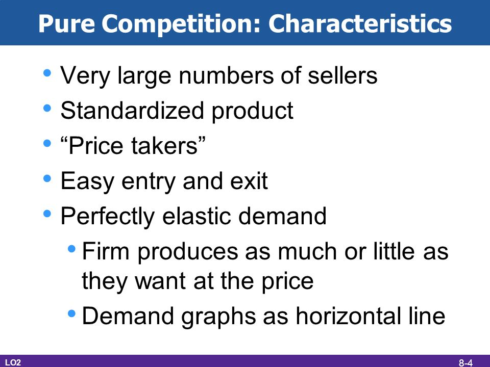 pure competition characteristics