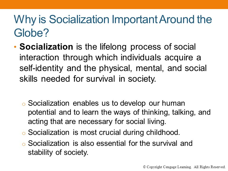 why is socialization important to humans and society