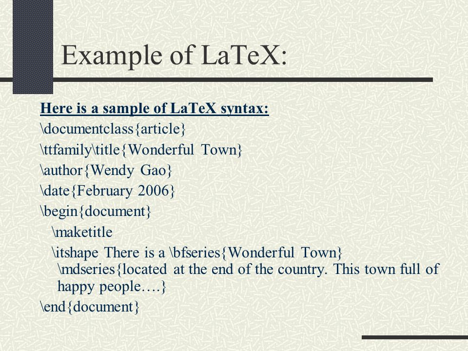 Getting started with latex wilkins