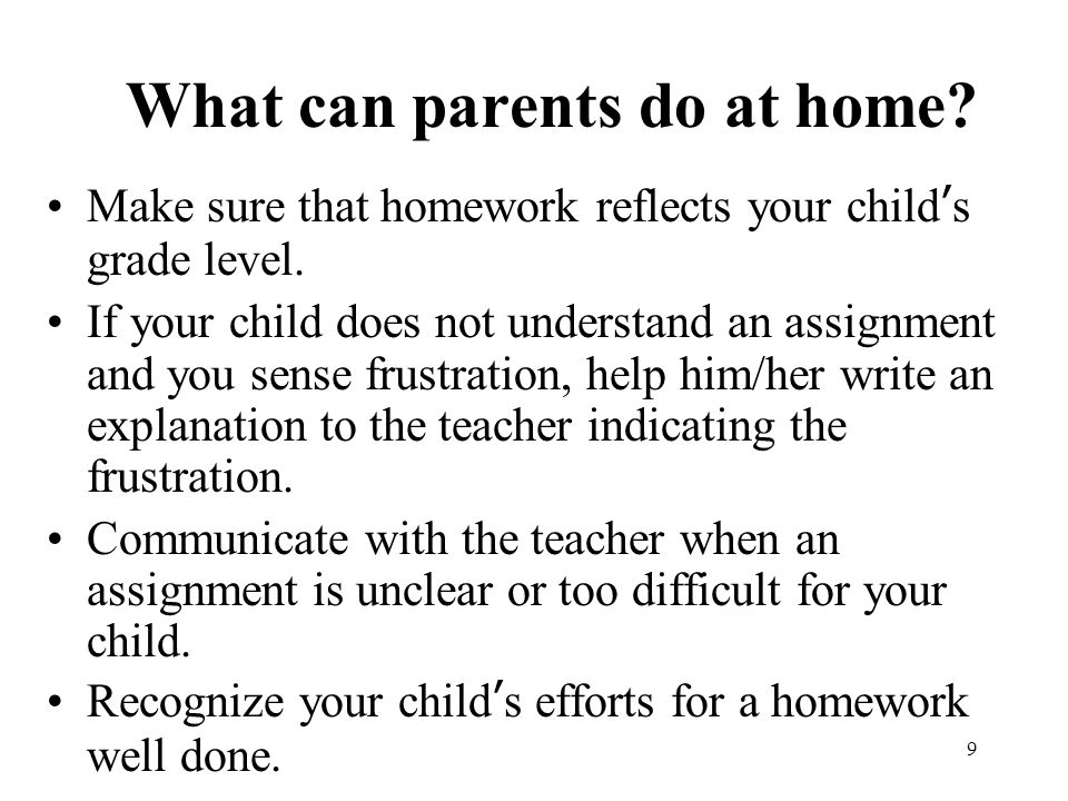 What Can Be Done To Help Parents Of >> Parents And Homework Cristina Parodi Parent Family Liaison