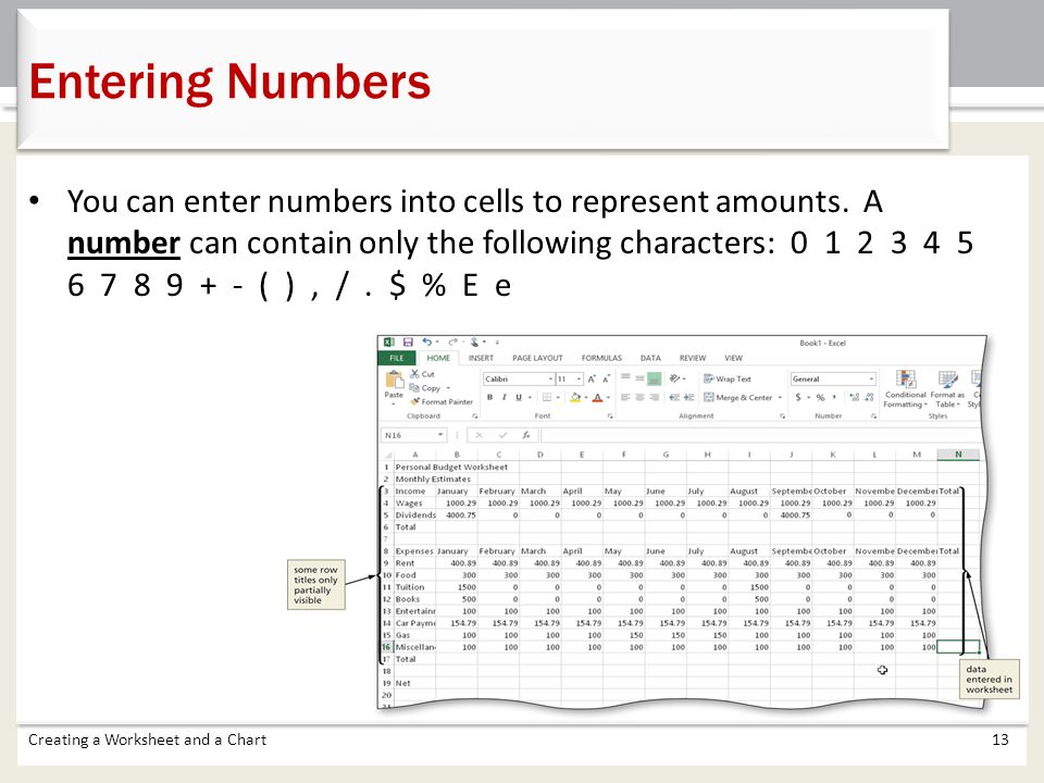 Chapter 1 Creating A Worksheet And Chart Ppt Video Online Download. Entering Numbers. Worksheet. Review Worksheet Creator At Mspartners.co
