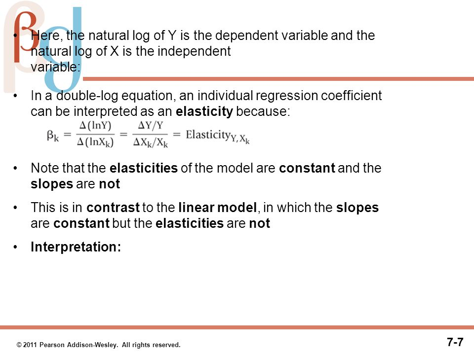 Examples Linear Models The Log Linear Model Semilog Models Ppt