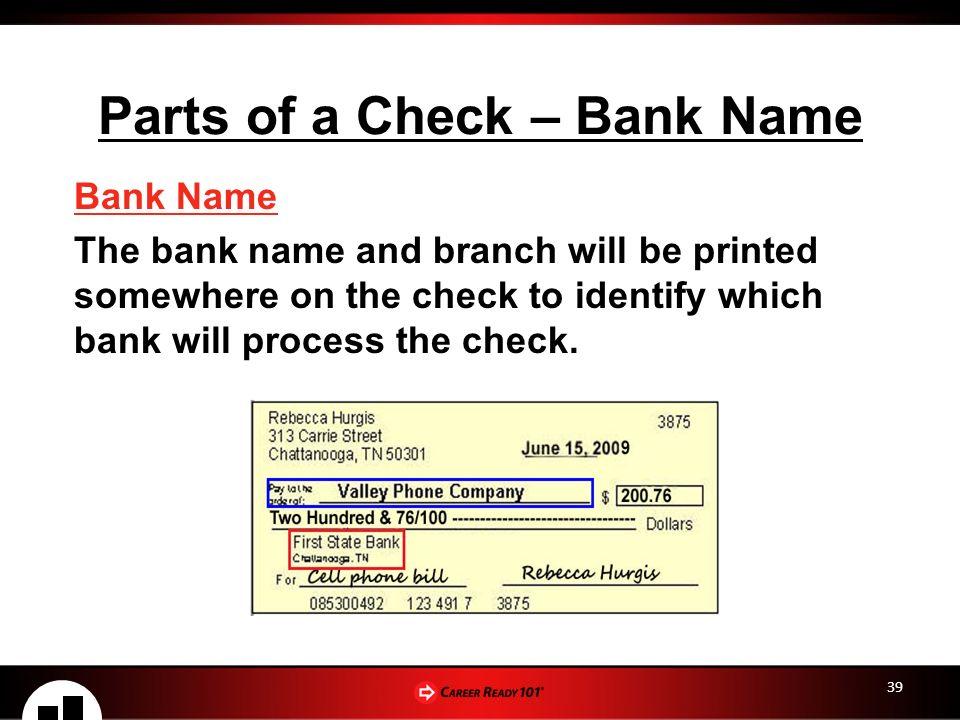 Checking & Savings Accounts Lesson 2: Checking Account Basics – Part 1