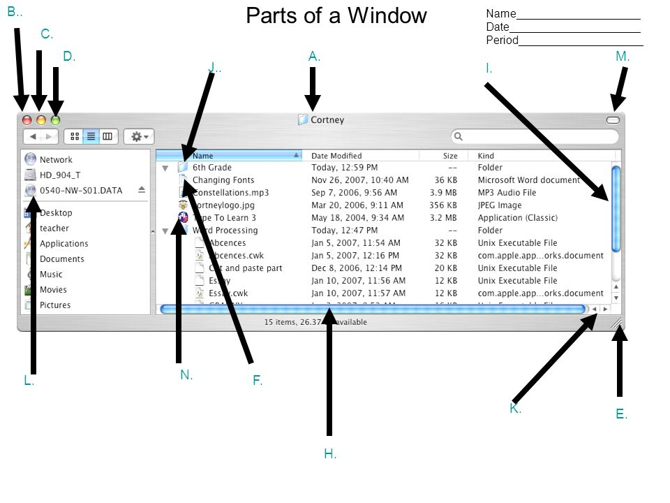 Parts Of A Computer Window 18