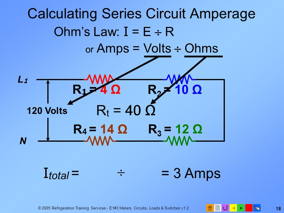 Calculating Series Circuit Amperage