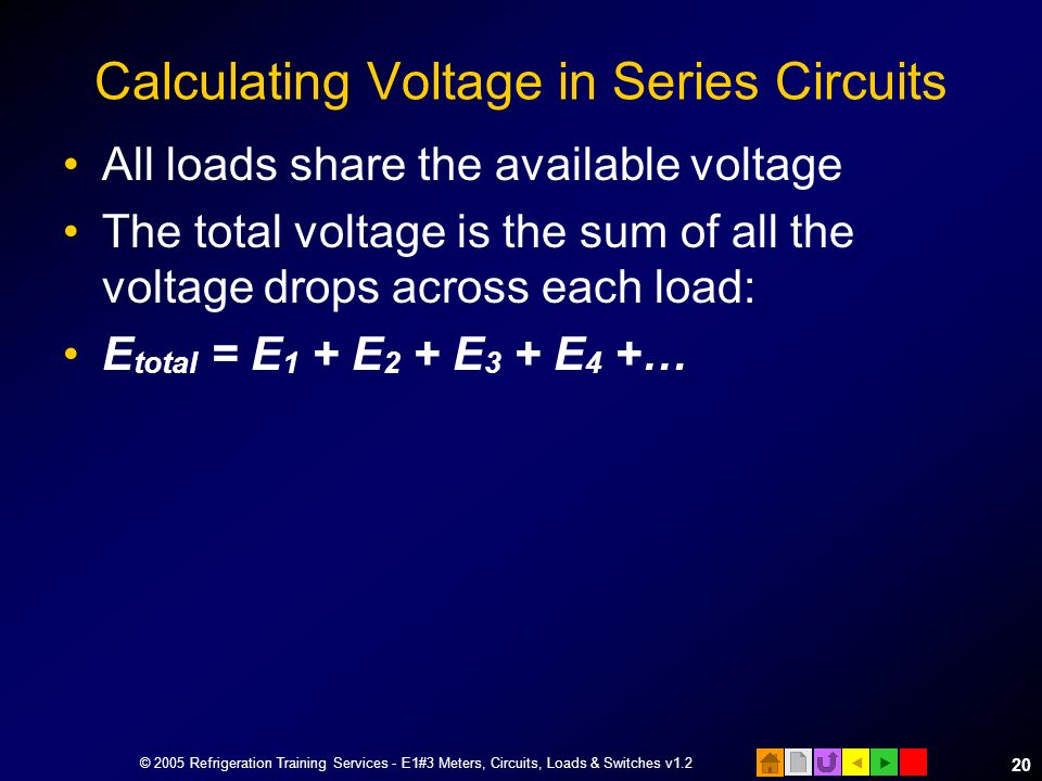 Calculating Voltage in Series Circuits