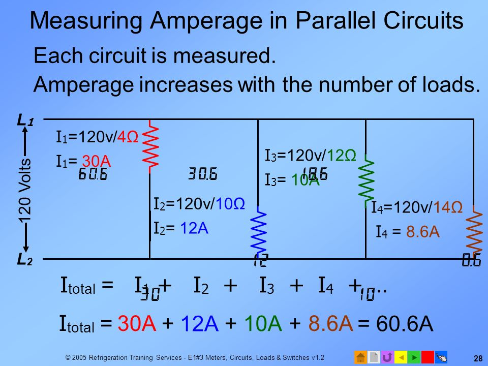 Measuring Amperage in Parallel Circuits