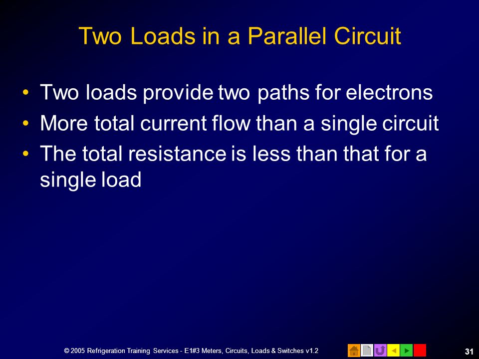 Two Loads in a Parallel Circuit
