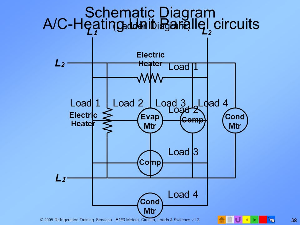 A/C-Heating Unit Parallel circuits