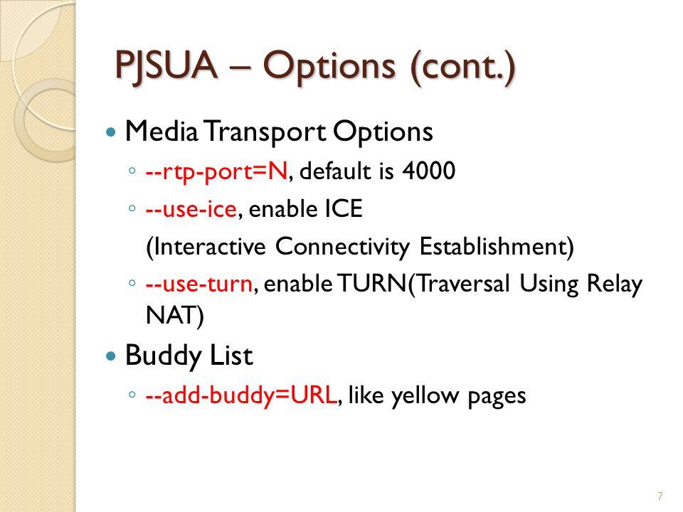 PJSUA – A command line SIP user agent - ppt video online