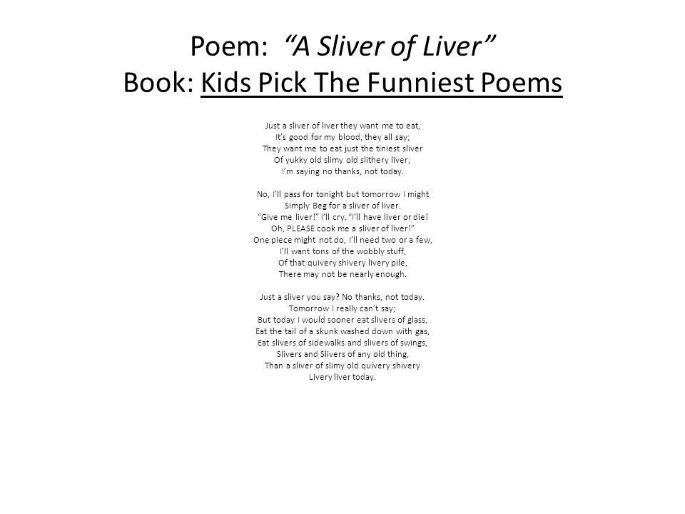 """Poem Reflection of """"A Sliver Of Liver"""" - ppt download"""