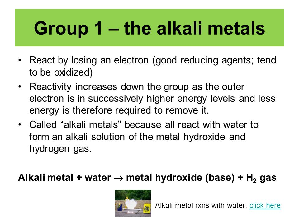 Part 2 The Periodic Table And Chemical Properties Of Groups 1 7