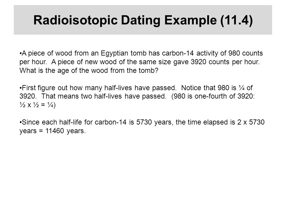 Radioisotopic dating