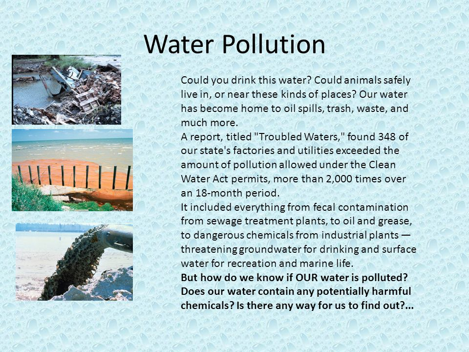 research proposal on effects of water pollution