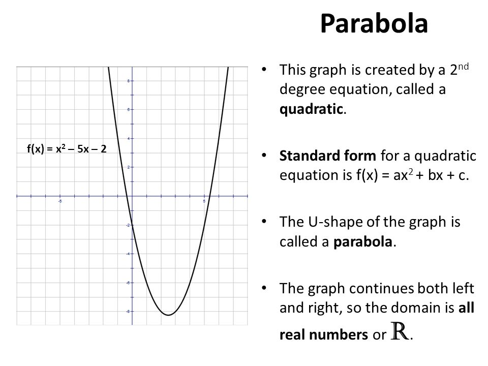 how to know if equation is parabola