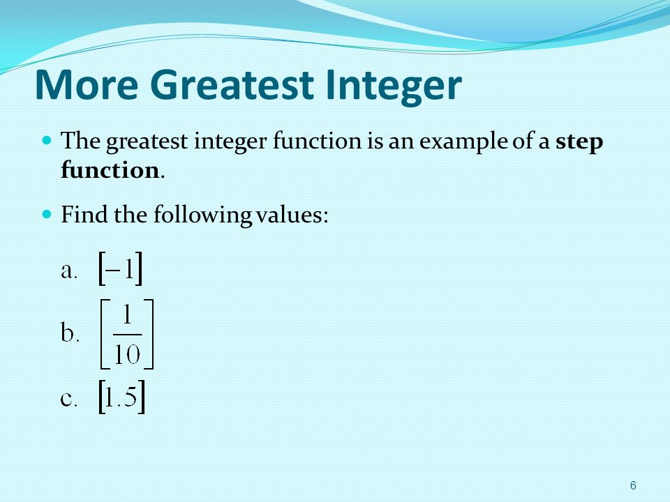 Chapter 1 Functions And Their Graphs Ppt Download. More Greatest Integer The Function Is An Exle Of A Step. Worksheet. Greatest Integer Function Worksheet At Mspartners.co