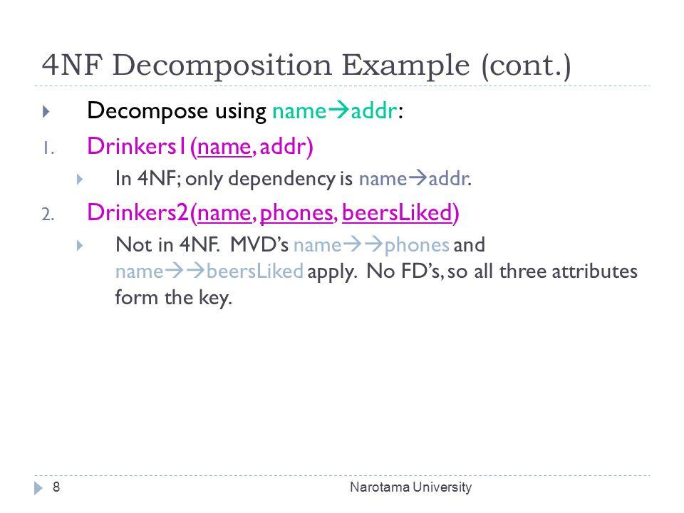 Database normalization 1nf, 2nf, 3nf, bcnf, 4nf, 5nf.