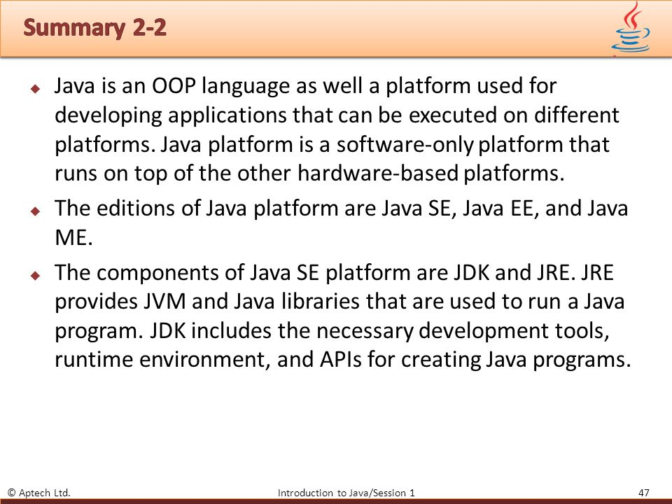 1 Introduction to Java  - ppt download