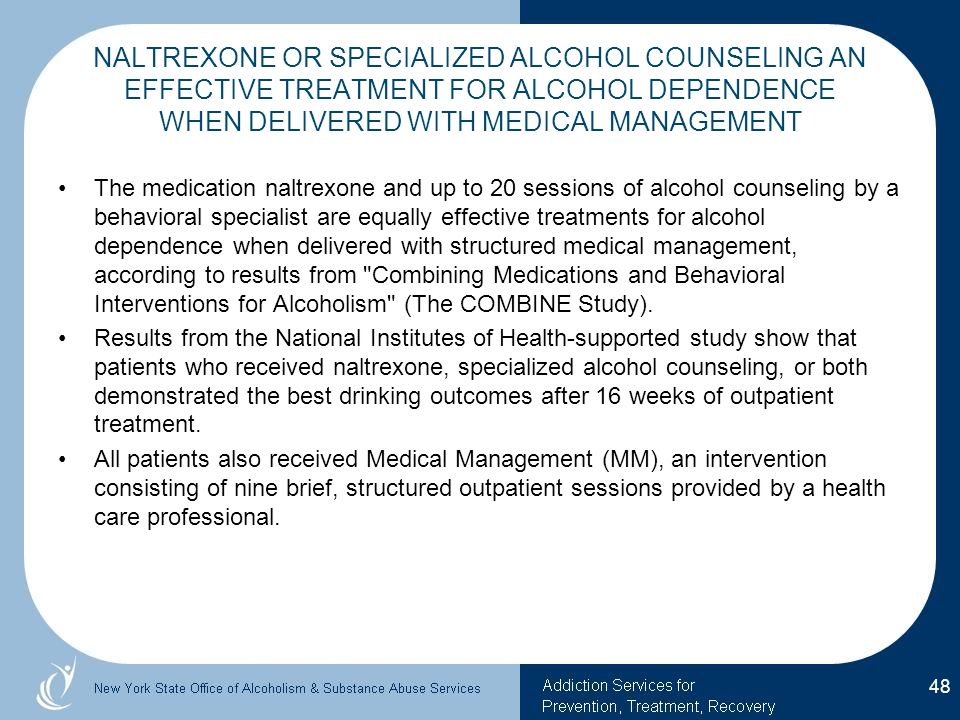 Naltrexone for the treatment of alcohol dependence among ...