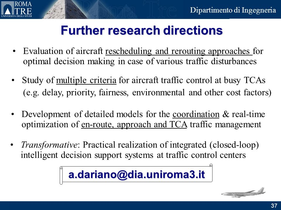 Further research directions