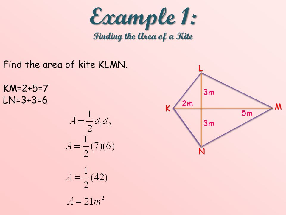 Objective: To find the areas of rhombuses and kites  - ppt video