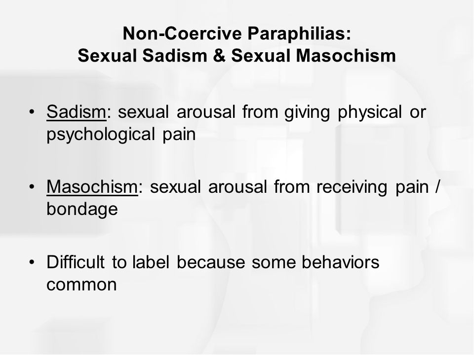 sexual arousal from pain