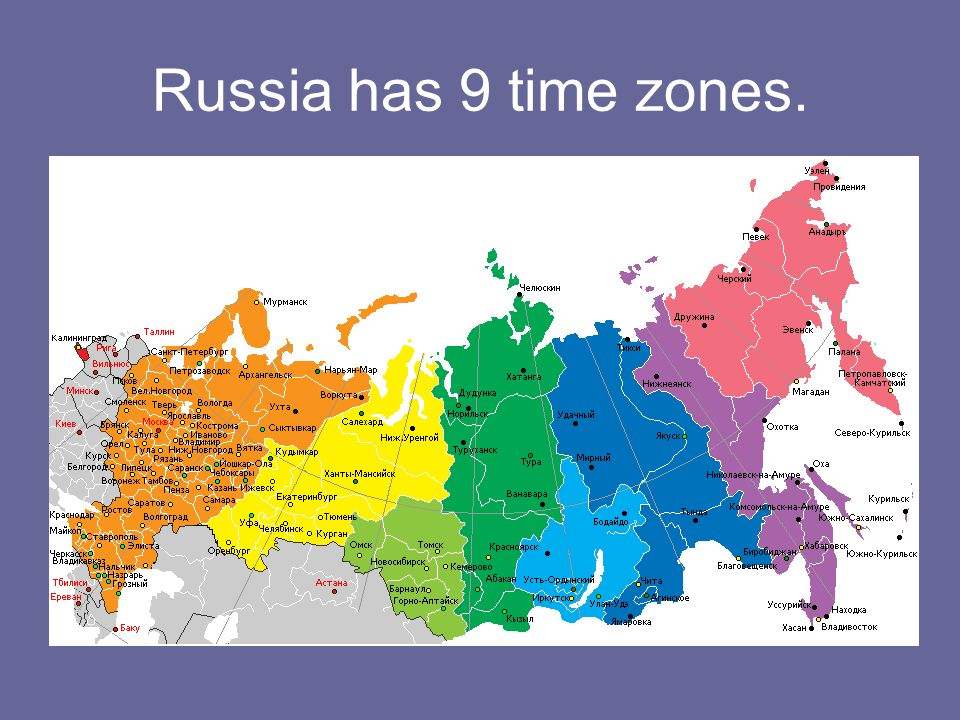 Time Zones In Russia Map.Facts About Russia Ppt Video Online Download