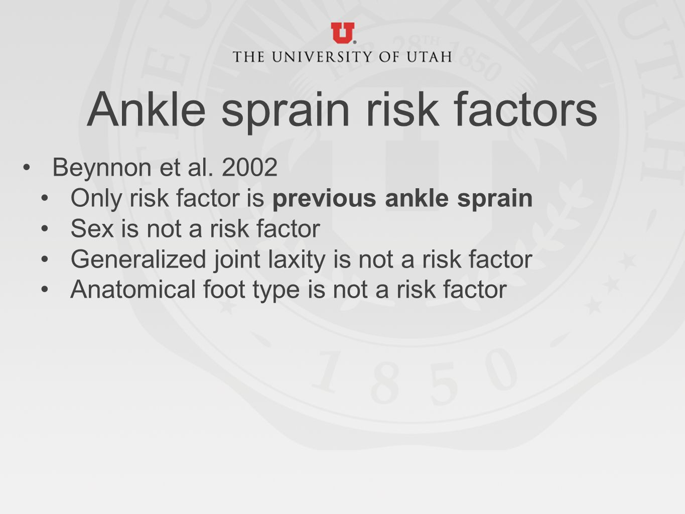 Ankle sprain prevention What\'s the evidence? - ppt download