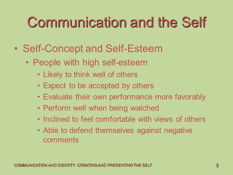 self concept and communication articles