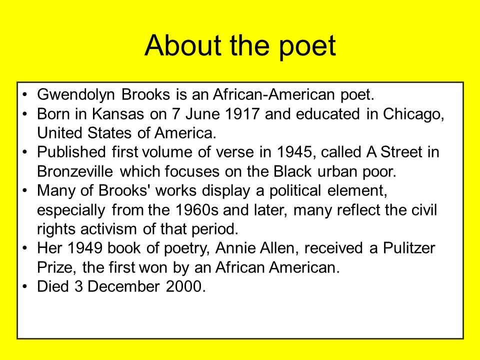 gwendolyn brooks black love