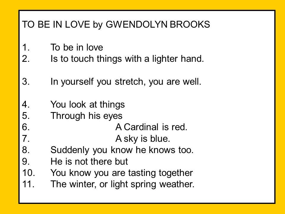 gwendolyn brooks love poems