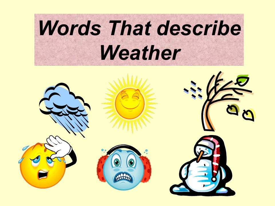 words to describe weather
