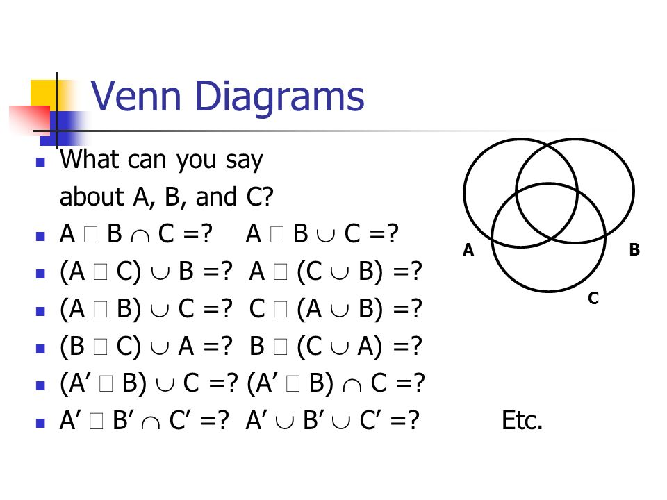 A U C Venn Diagram Residential Electrical Symbols