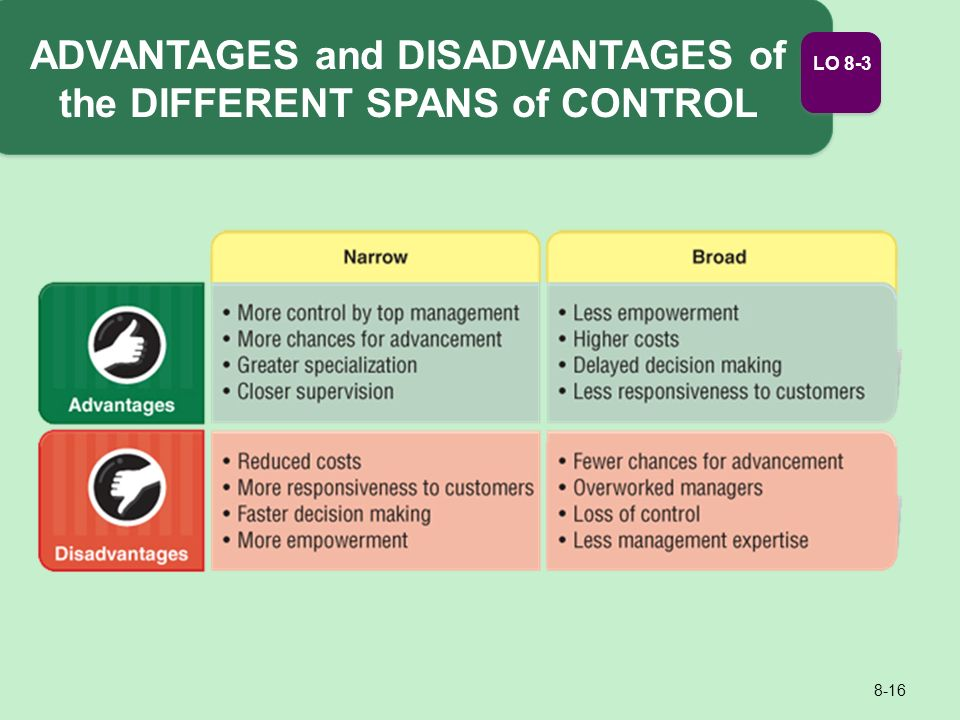 advantages of wide span of control