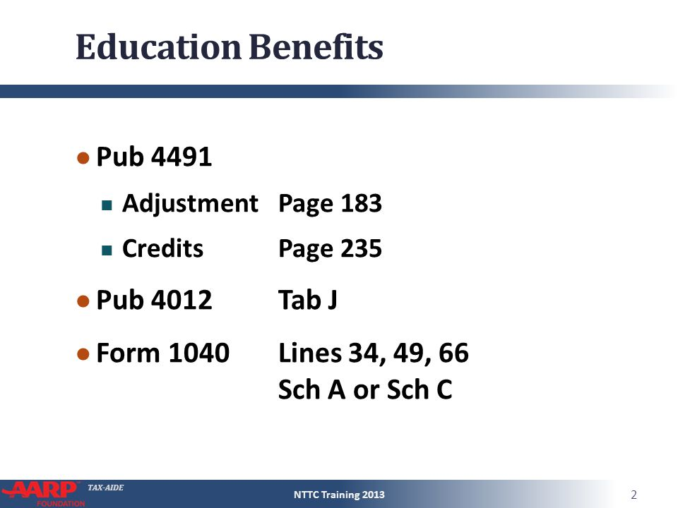 Education Benefits American Opportunities Credit Ppt Video Online