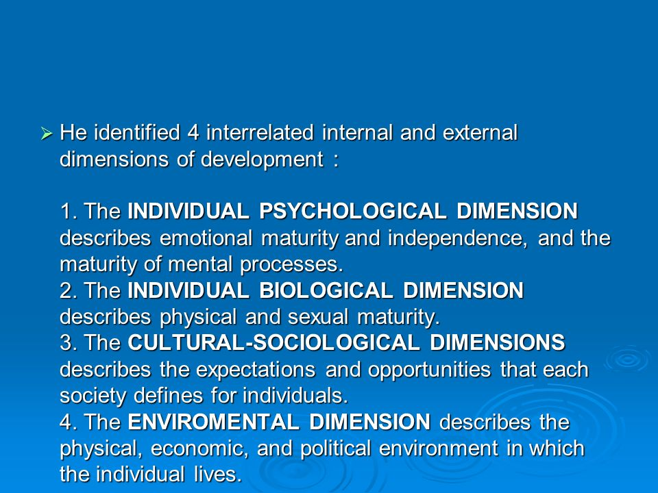 4 dimensions of development