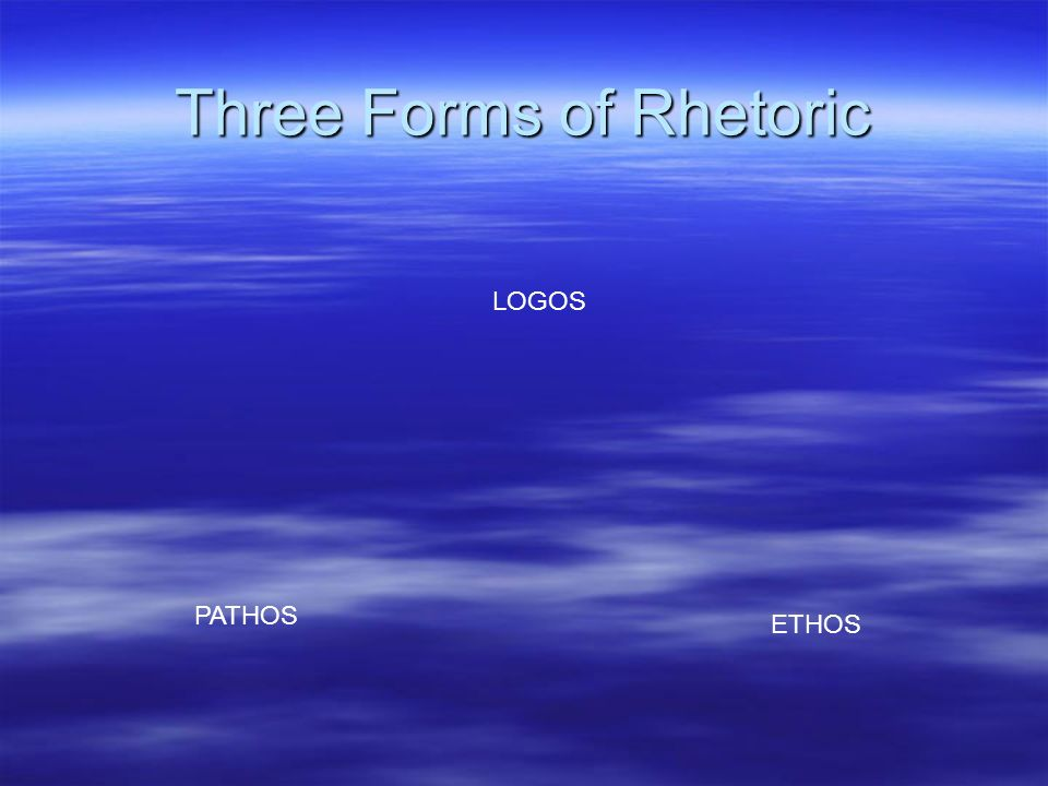 Three Forms of Rhetoric
