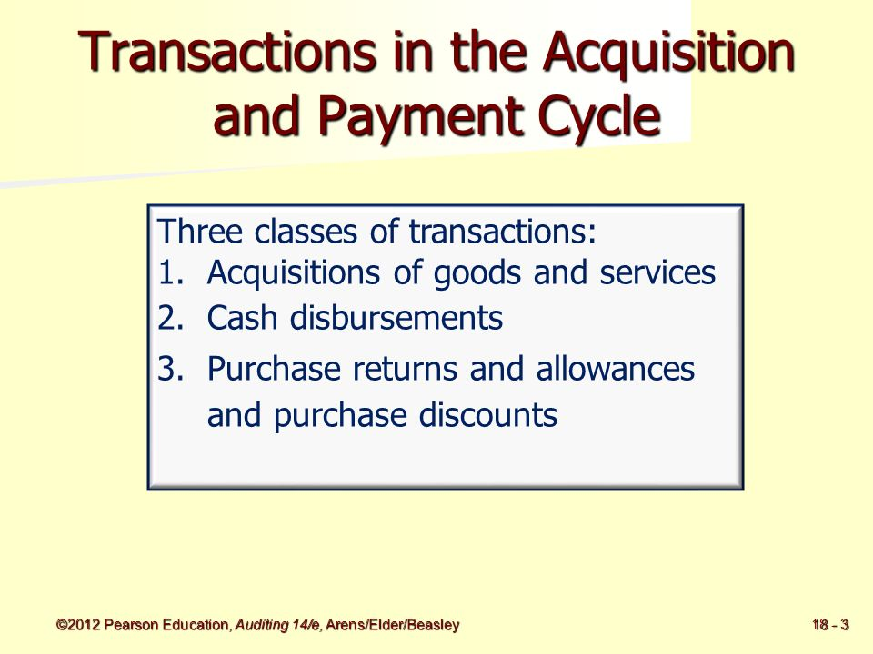 Audit Of The Acquisition And Payment Cycle Tests Of