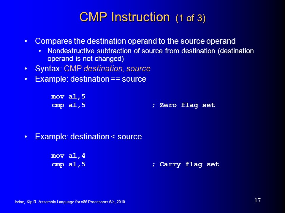 Assembly Language For X86 Processors 6th Edition Ppt Download