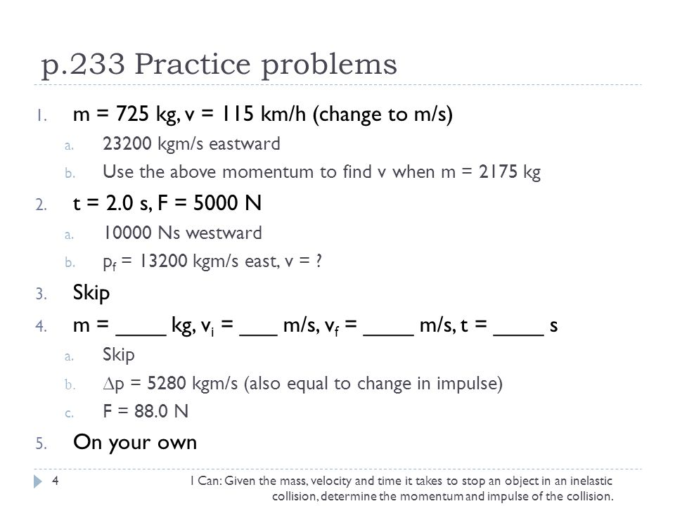 Impulse and Momentum Collisions and conservation of momentum - ppt ...